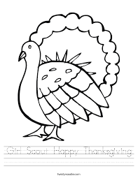 scout happy thanksgiving worksheet twisty noodle