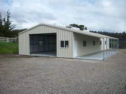 garage white metal barns with living quarters for best garage idea