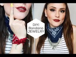 bandana wristband diy bandana necklace bracelet free inspired