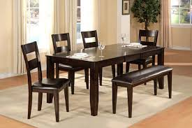 Dining Table Without Chairs Furniture Impressive Dining Table Set With Bench Dining Table
