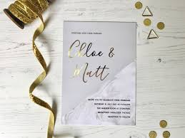 gold foil wedding invitation golden grey collection polka dot