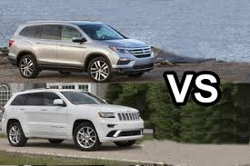 honda jeep models 2016 honda pilot vs 2016 jeep grand cherokee design youtube