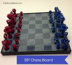 Cool Chess Boards by How To Make A Chess Set With Nuts U0026 Bolts Cub Scout Ideas