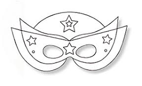 Coloriage masque super héros