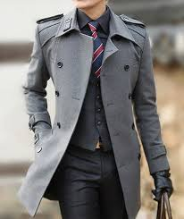 men u0027s grey overcoat charcoal plaid waistcoat black dress shirt
