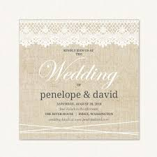 burlap and lace wedding invitations rustic lace wedding invitations with country theme