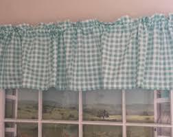 Blue And White Gingham Curtains Gingham Curtains Etsy