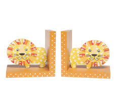 bookends lion book corner