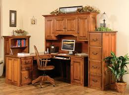 Real Wood Corner Desk Place A Corner Desk With Hutch And A Wing In A Room