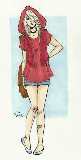 modern red riding hood lilyscribbles deviantart