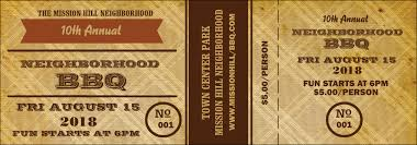 bbq tickets template vintage event ticket