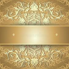 luxury gold background with ornament stock vector image 58750964
