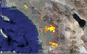 San Diego State Map by Doc Searls Weblog More Fires