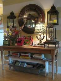 Entrance Tables And Mirrors Entry Table Love The Hanging Lanterns Country Decor