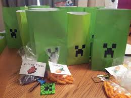 minecraft goody bags jake minecraft goodie bags kidz party ideas goodie