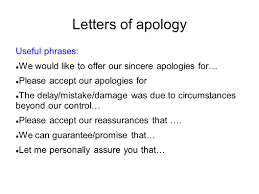 Business Apology Letter Template Letter Of Apology For Mistake Sample Expository Essay High School