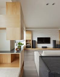 taiwanese apartment interior design with a wooden accent decor