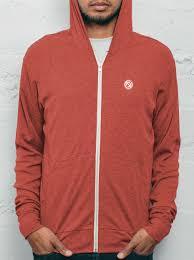 red zip up hoodie men u0027s super soft free shipping