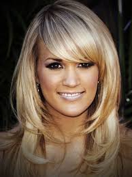 straight hair with side bangs and layers hairstyles for long hair