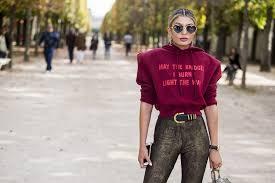 may the bridges i burn light the way vetements may the bridges i burn light the way slogan street style at paris
