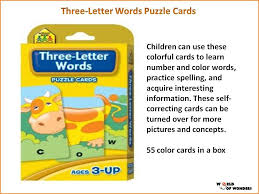 words cards three letter words puzzle cards wooks