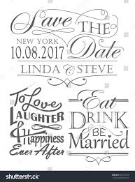 wedding quotes of the set wedding quotes vintage lettering style stock vector 432135913