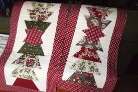 sewitmakeitbakeit voila my msqc half hex christmas table runners