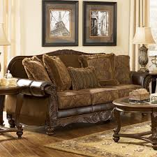 living room ashley leather loveseat recliner sofa signature