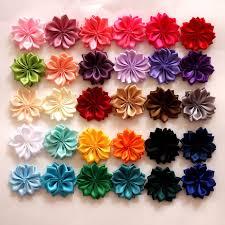 wholesale hair accessories hair clip flowers hair accessories satin ribbon flowers for hair