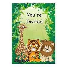 safari themed invitations afoodaffair me