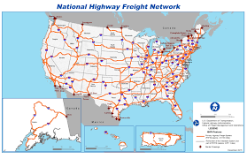 Map Of Michigan Highways by National Highway Freight Network Map Fhwa Freight Management And