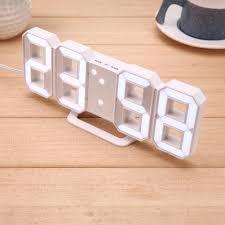 Desk Alarm Clock Led White Table Desk Wall Hanging Digital Alarm Clock U2013 The