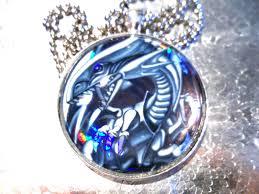 yugioh classics blue eyes white dragon yugioh glass pendant