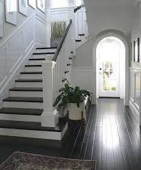 Best Paint For Stair Banisters Best 25 Black Painted Stairs Ideas On Pinterest Black Staircase
