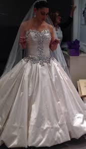 panina wedding dresses pnina tornai antique white satin formal wedding dress size 6 s