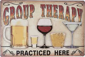 amazon com uniquelover group therapy practiced here retro vintage