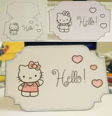 printable hello kitty card template crafts diy u0026 artistics