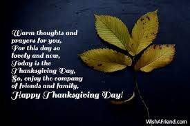 warm thoughts and prayers for you thanksgiving wish