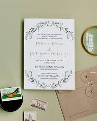 green wedding invitations rustic green and gold foil wedding invitations
