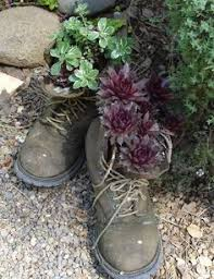 hens and in repurposed old cowboy boot will definitely be