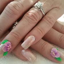 squoval acrylic nails with cnd shellac 3d acrylic nail art and