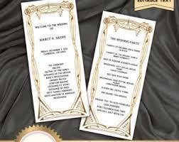 deco wedding program deco program etsy
