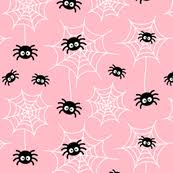 Pink Light Spider Web Fabric Wallpaper U0026 Gift Wrap Spoonflower