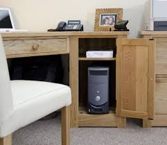 torino solid oak double pedestal corner desk oak furniture uk