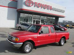 1995 vermillion red ford ranger xlt supercab 21506626 gtcarlot