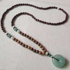 long wood bead necklace images Folk style handmade wooden beads aventurine sweater chain beads jpg