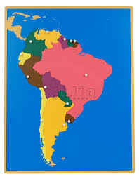 Seven Continents Map Seven Continents Map Elementary Printable Puzzle At South America