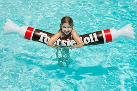 Tootsie Roll Pool Float Water toy that looks like classic candy