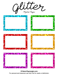 printable name tags free printable glitter name tags the template can also be used
