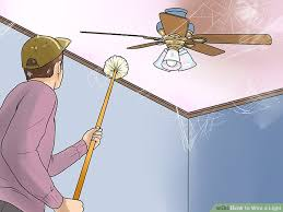 How To Wire A Ceiling Fan With Light How To Wire A Light With Pictures Wikihow
